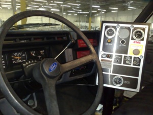 FMC Trump 2000 Aircraft Deicer Truck Interior