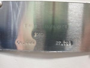 Simmons-Rand Paymover T400 dataplate