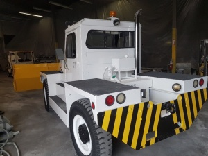 PSI MB-4 Aircraft Tug/ Snow Plow Truck: Rear Driver side