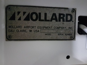 Wollard TC888 Belt Loader data plate